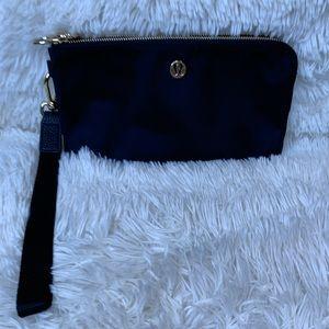 Lululemon black/gold double zip wristlet